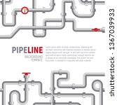 pipelines poster concept. pipes ... | Shutterstock .eps vector #1367039933