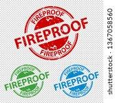 rubber stamp seal fireproof  ... | Shutterstock .eps vector #1367058560