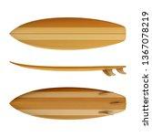 Surfboard Wood Front Back Side...