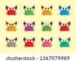 cute happy crab vector | Shutterstock .eps vector #1367079989