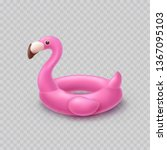 flamingo isolated on... | Shutterstock .eps vector #1367095103