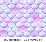 mermaid tail foil texture... | Shutterstock .eps vector #1367095169