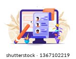 concept human resources ... | Shutterstock .eps vector #1367102219