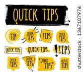 set of quick tips badge ... | Shutterstock .eps vector #1367107976