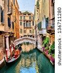 Scenic Canal With Gondola ...