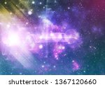 glowing starry space with...   Shutterstock . vector #1367120660