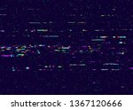 grunge glitchy texture with tv...   Shutterstock . vector #1367120666