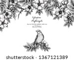 dog rose  briar  brier ...   Shutterstock .eps vector #1367121389