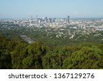 brisbane city viewed from mt... | Shutterstock . vector #1367129276