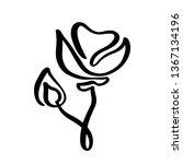 rose flower concept logo... | Shutterstock .eps vector #1367134196