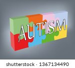 the word autism against the... | Shutterstock .eps vector #1367134490