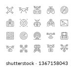 set of drone line icons. fast... | Shutterstock .eps vector #1367158043