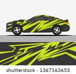 abstract racing graphic stripe... | Shutterstock .eps vector #1367163653