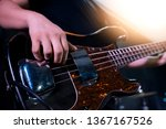 view of hands a guitar player... | Shutterstock . vector #1367167526