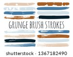 paint lines grunge collection.... | Shutterstock .eps vector #1367182490