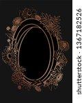rose gold botanic card. floral  ... | Shutterstock .eps vector #1367182526