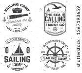 set of summer sailing camp... | Shutterstock .eps vector #1367193659