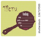 menu. polka dot. vector. | Shutterstock .eps vector #136719500