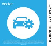 blue car service icon isolated... | Shutterstock .eps vector #1367195249