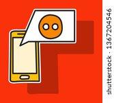 sticker unusual look web icon... | Shutterstock .eps vector #1367204546