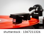 close up of turntable needle on ... | Shutterstock . vector #1367211326