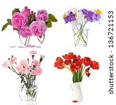 Different Flowers In Vase...