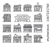 shops  stores and venues line... | Shutterstock .eps vector #1367221760