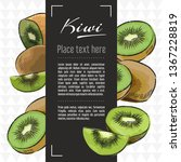 kiwi fruit vector menu design... | Shutterstock .eps vector #1367228819