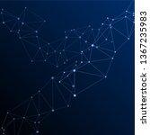 block chain global network...   Shutterstock .eps vector #1367235983