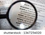 the word of phrase   avian   in ... | Shutterstock . vector #1367256020