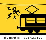 man is killed by touching... | Shutterstock .eps vector #1367263586
