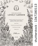 lovely garden. vector... | Shutterstock .eps vector #1367280113