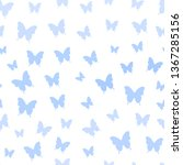 seamless pattern with blue...   Shutterstock .eps vector #1367285156