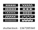 patterned bracelet template....   Shutterstock .eps vector #1367285360