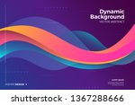 geometric abstract background... | Shutterstock .eps vector #1367288666