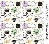 bags seamless pattern | Shutterstock .eps vector #136729490
