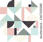 geometric pattern. ethnic... | Shutterstock .eps vector #1367320280