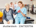 physiotherapist looks after...   Shutterstock . vector #1367320706