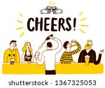 people drinking at the bar.... | Shutterstock .eps vector #1367325053
