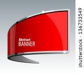 shiny gloss red vector banner...   Shutterstock .eps vector #136733549