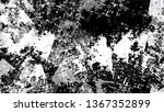 cartoon distressed black and... | Shutterstock .eps vector #1367352899