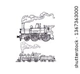 locomotive old and simple... | Shutterstock .eps vector #1367363000