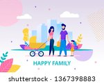 happy family conceptual flat... | Shutterstock .eps vector #1367398883