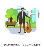 stylish man in casual clothing...   Shutterstock .eps vector #1367405396