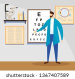 young male doctor stand at... | Shutterstock .eps vector #1367407589