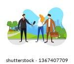 tv reporter at work hold...   Shutterstock .eps vector #1367407709
