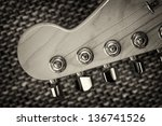 Electrical Guitar Head Stock...