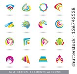abstract design elements . ... | Shutterstock .eps vector #136742528