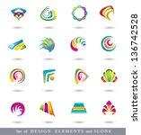 abstract design elements . ... | Shutterstock .eps vector #136742528