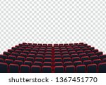 rows of red cinema or theater... | Shutterstock .eps vector #1367451770